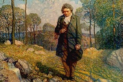Image result for lone artist beethoven in painting