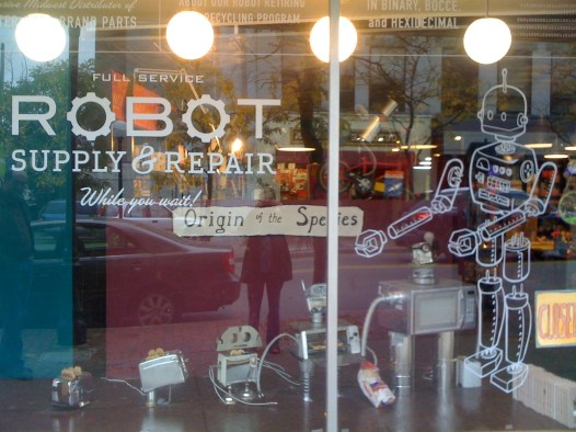 Image result for robot in a store display