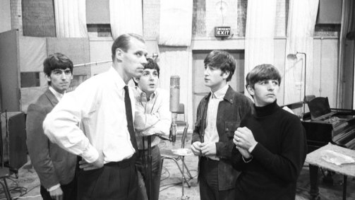 Image result for george martin in studio with beatles